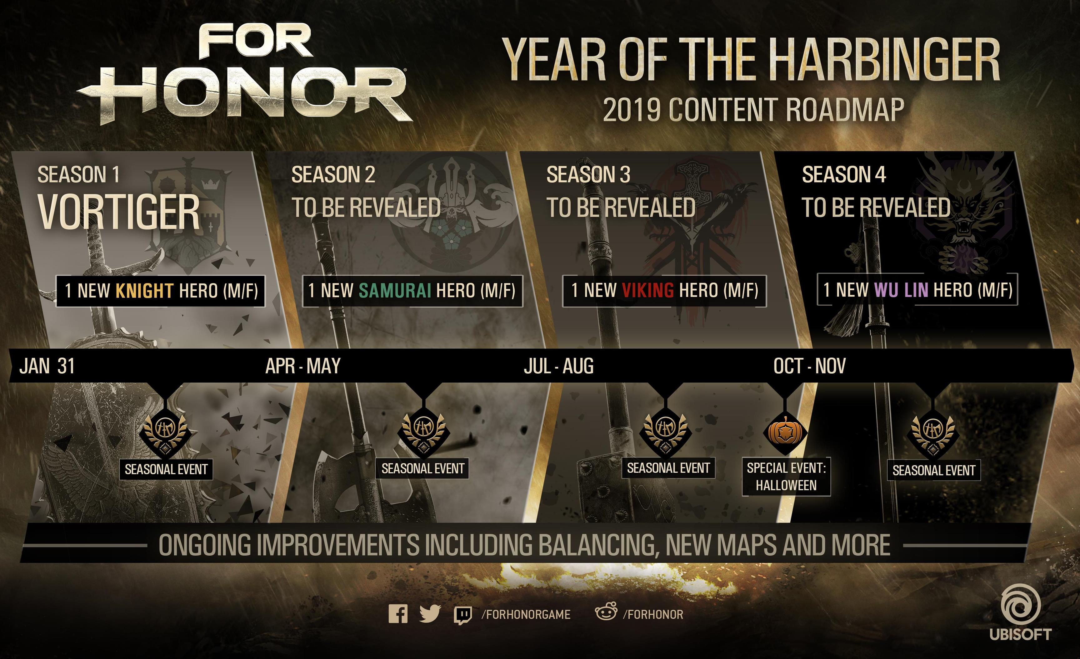 Calendario Ubisoft.For Honor Is Getting 4 New Heroes In 2019 Vg247
