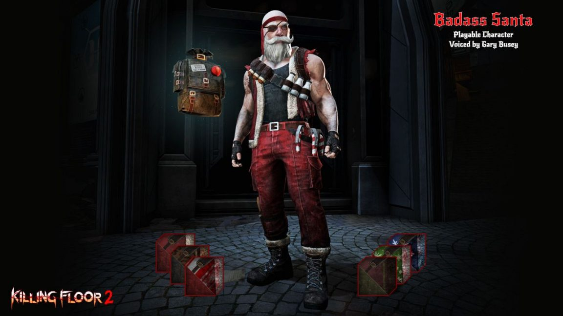 Kf2 Christmas 2021 Cosmetics Killing Floor 2 Twisted Christmas Season S Beating Update Decks The Halls With Zed Body Parts And Gary Busey
