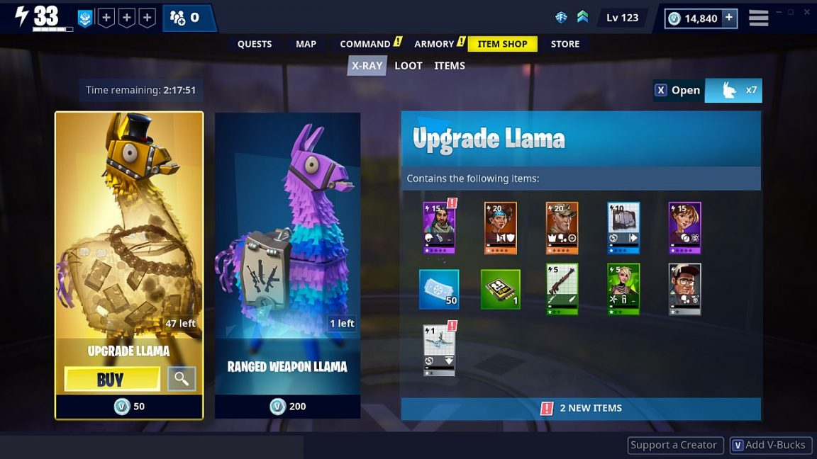 Fortnite's loot boxes now show you what's inside - new X-Ray Llamas explained