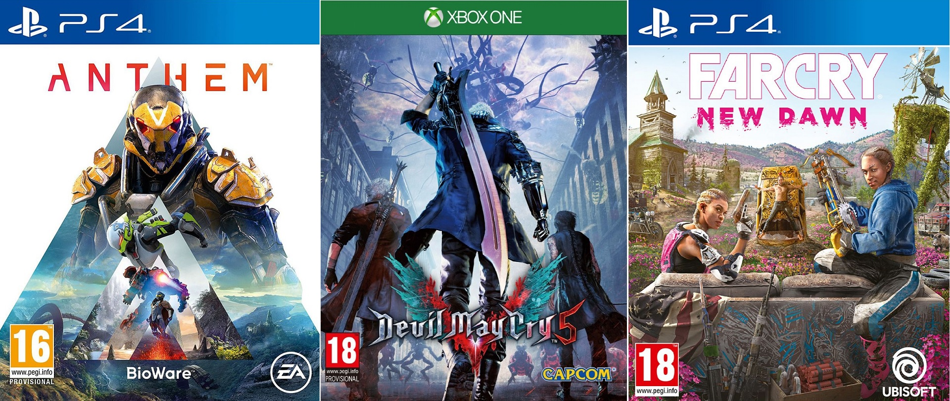 Anthem Devil May Cry 5 Crackdown 3 Metro Exodus Far Cry New Dawn And More New Releases Are In Target S Buy 2 Get 1 Free Sale Vg247