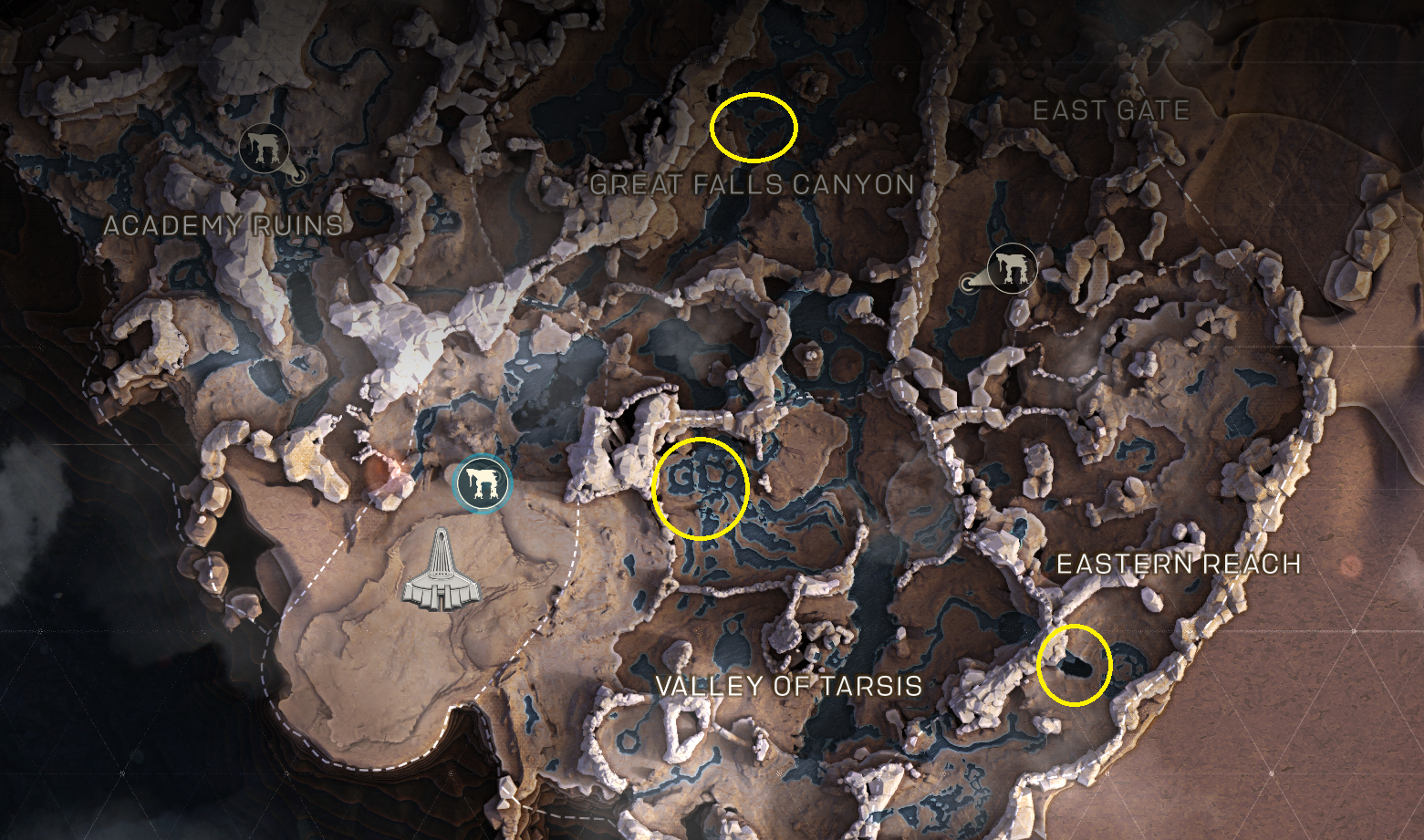 anthem all titan locations