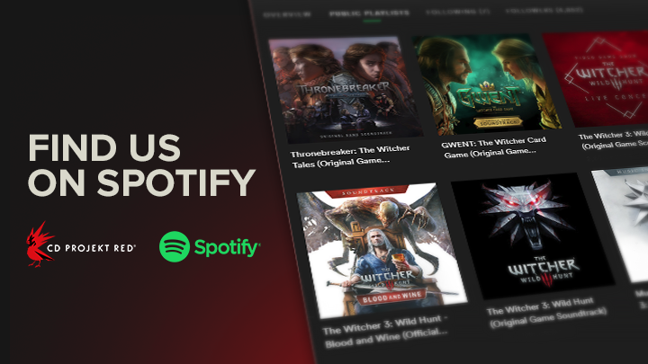 CD Projekt has released the soundtracks from Gwent and The Witcher 3 on Spotify