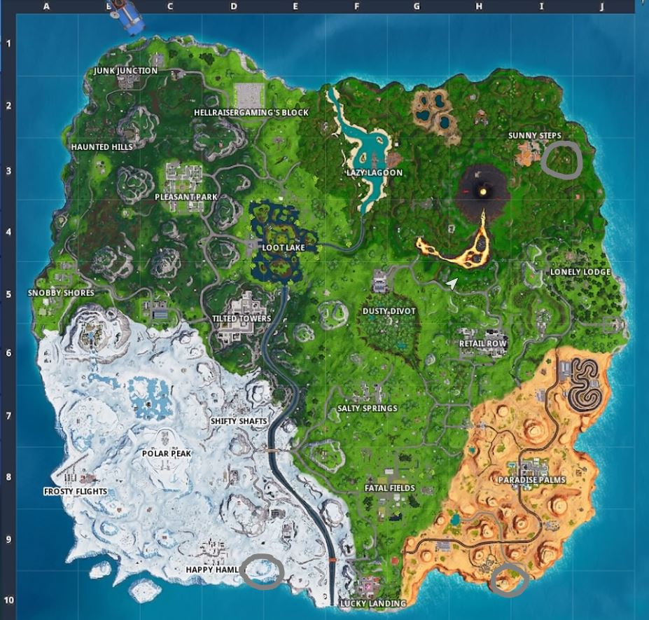 fortnite visit a giant face in the desert the jungle and the snow - visit a giant face in the desert jungle and snow fortnite challenge