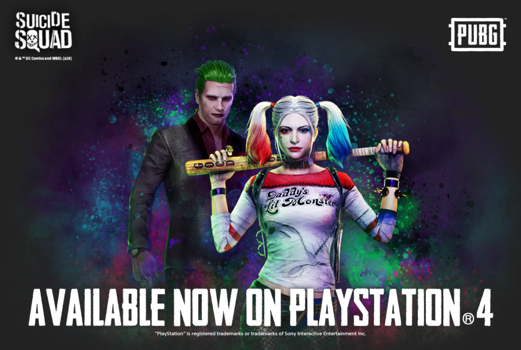 Pubg S Officially Licensed Suicide Squad Skins Are On Ps4 For The