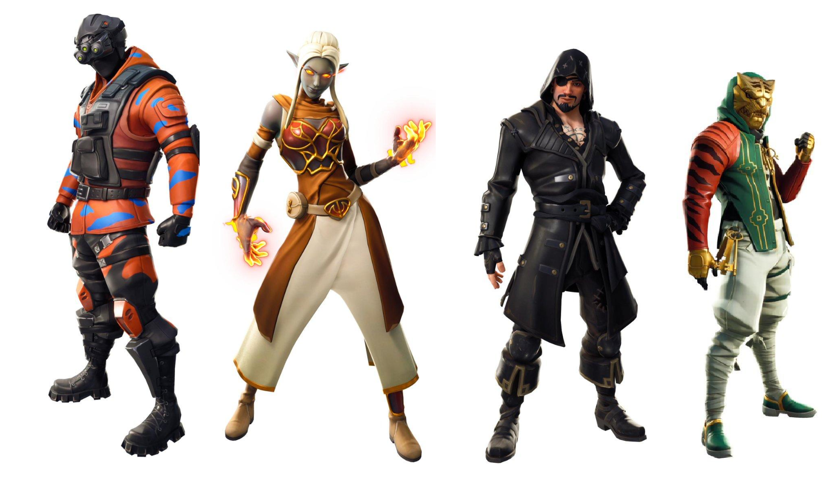 we also got a better look at the fire demon skins now that the volcano is about to decimate the map as well as the funky banana skin that we saw in - fortnite skins coming out season 8