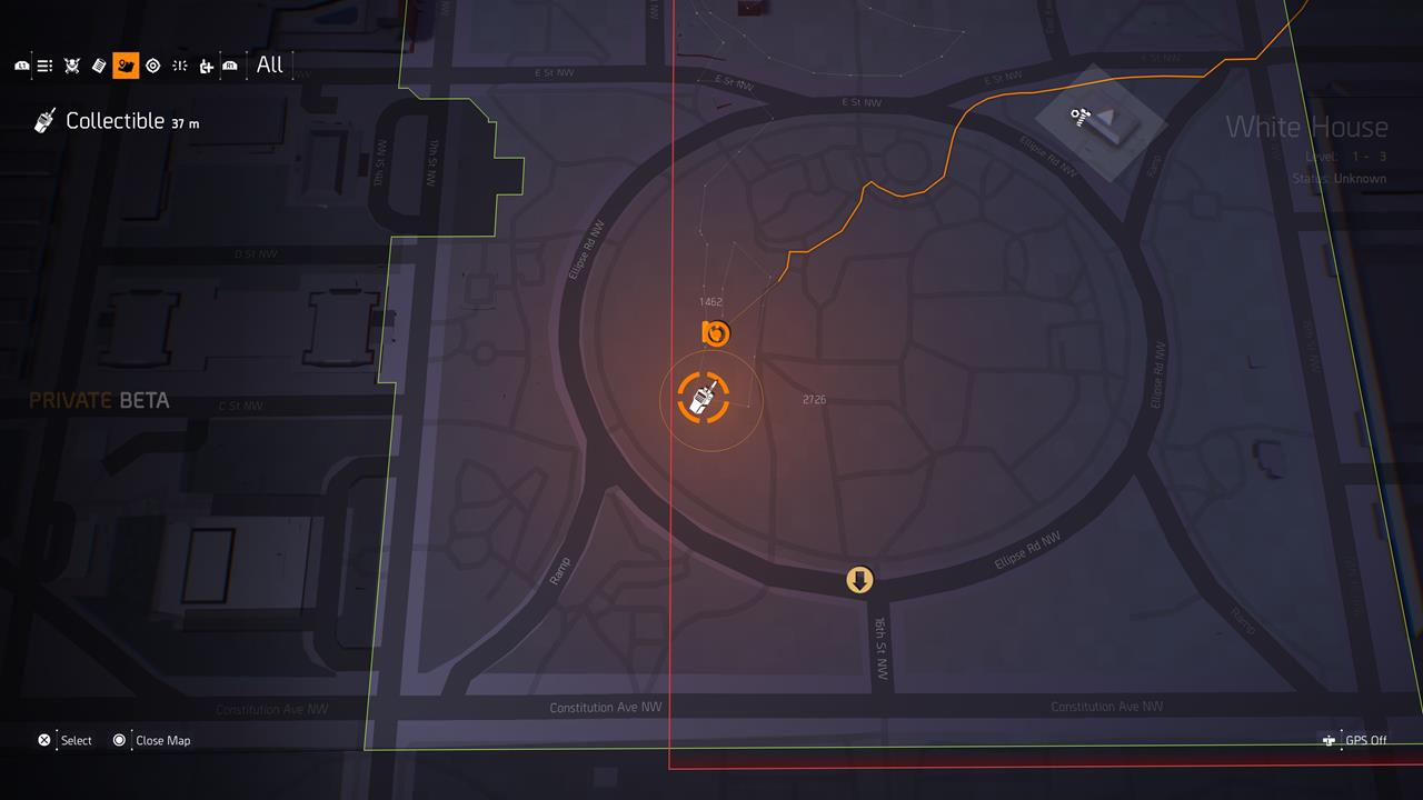 The Division 2: Division Comms location information
