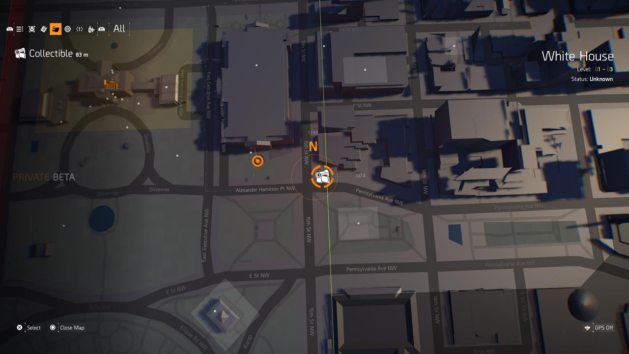 The Division 2: Hyena Comms location information
