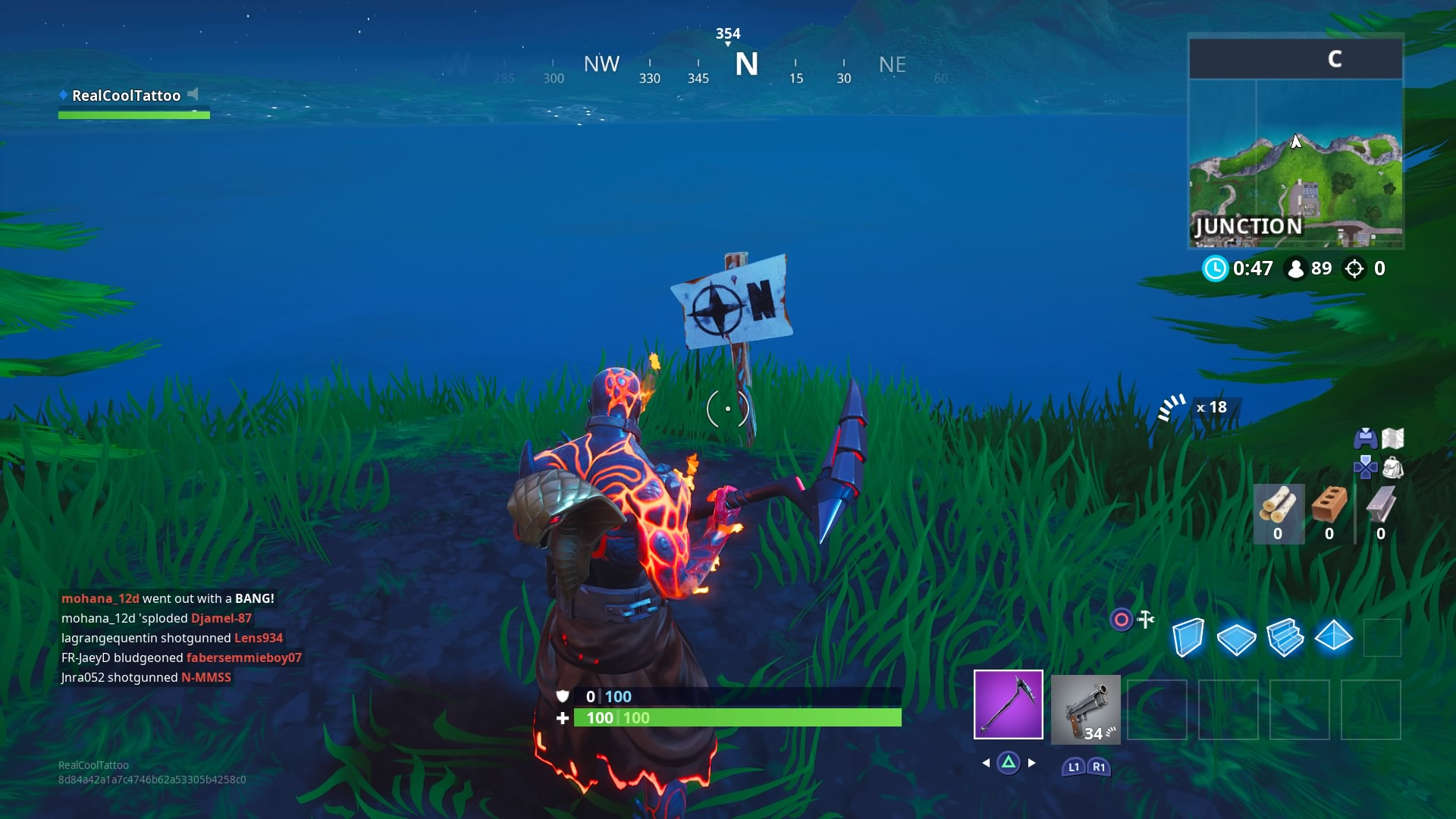 fortnite visit the furthest north south east and west points of the island vg247 - fortnite furthest north south east west challenge