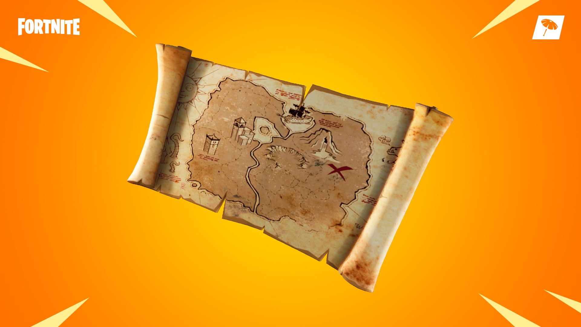 fortnite search where the magnifying glass sits on the treasure map loading screen vg247 - fortnite season 8 week 3 treasure map