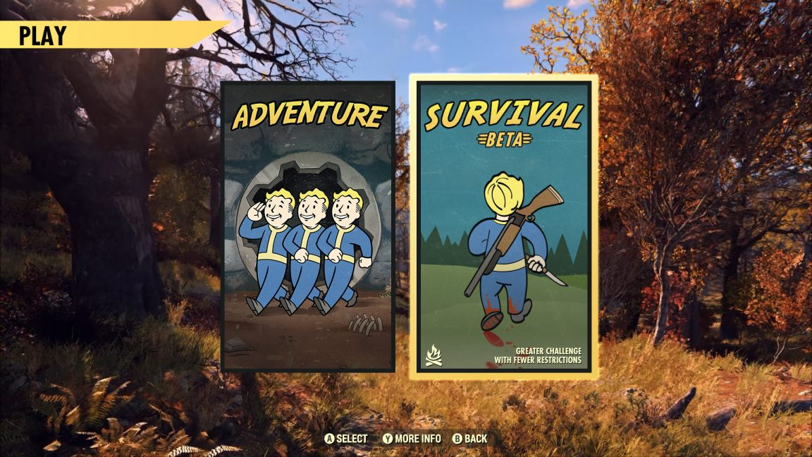Fallout 76 Survival Mode beta brings high-stakes PvP to the game today