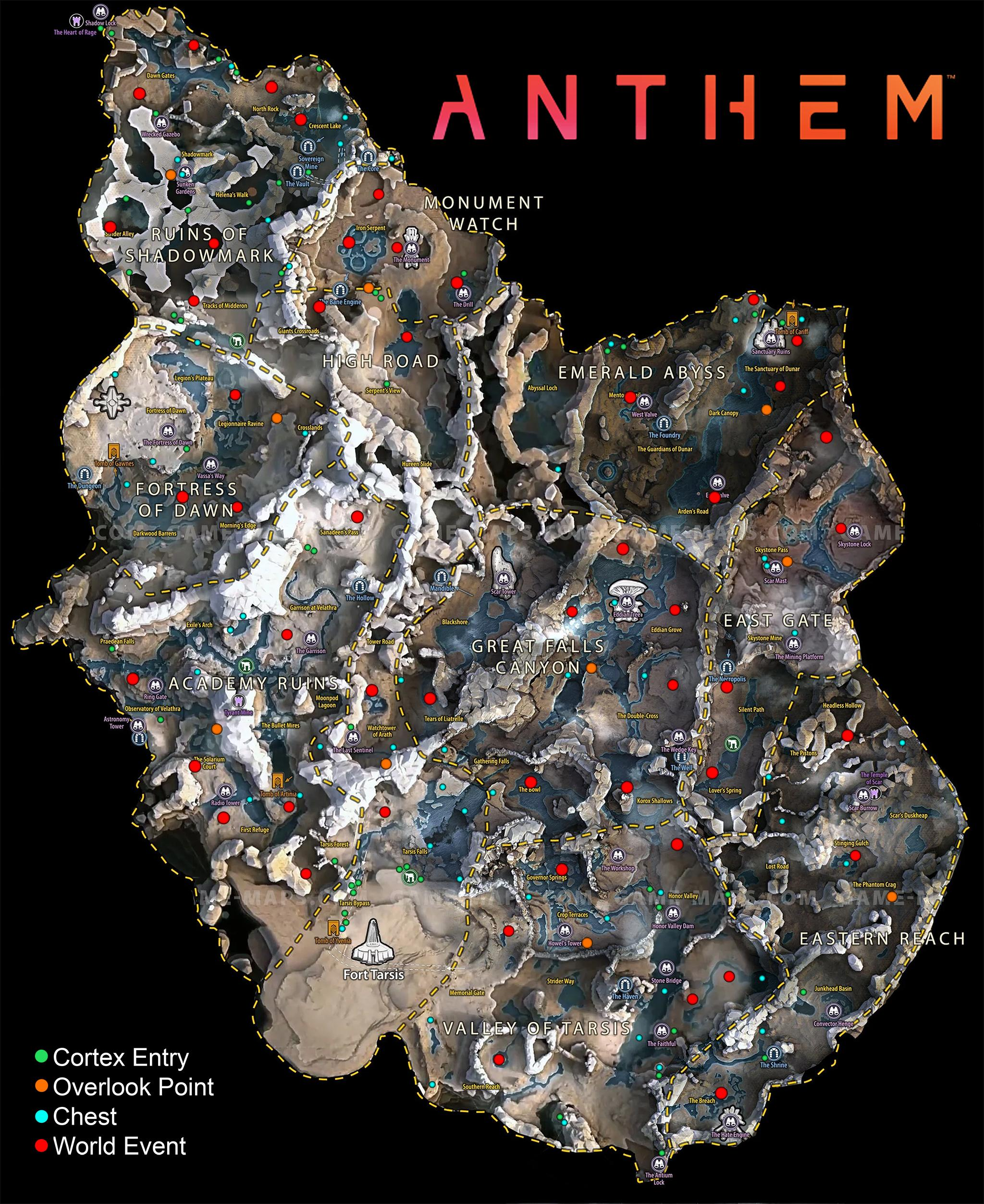 Anthem players are creating maps of world events, Titan