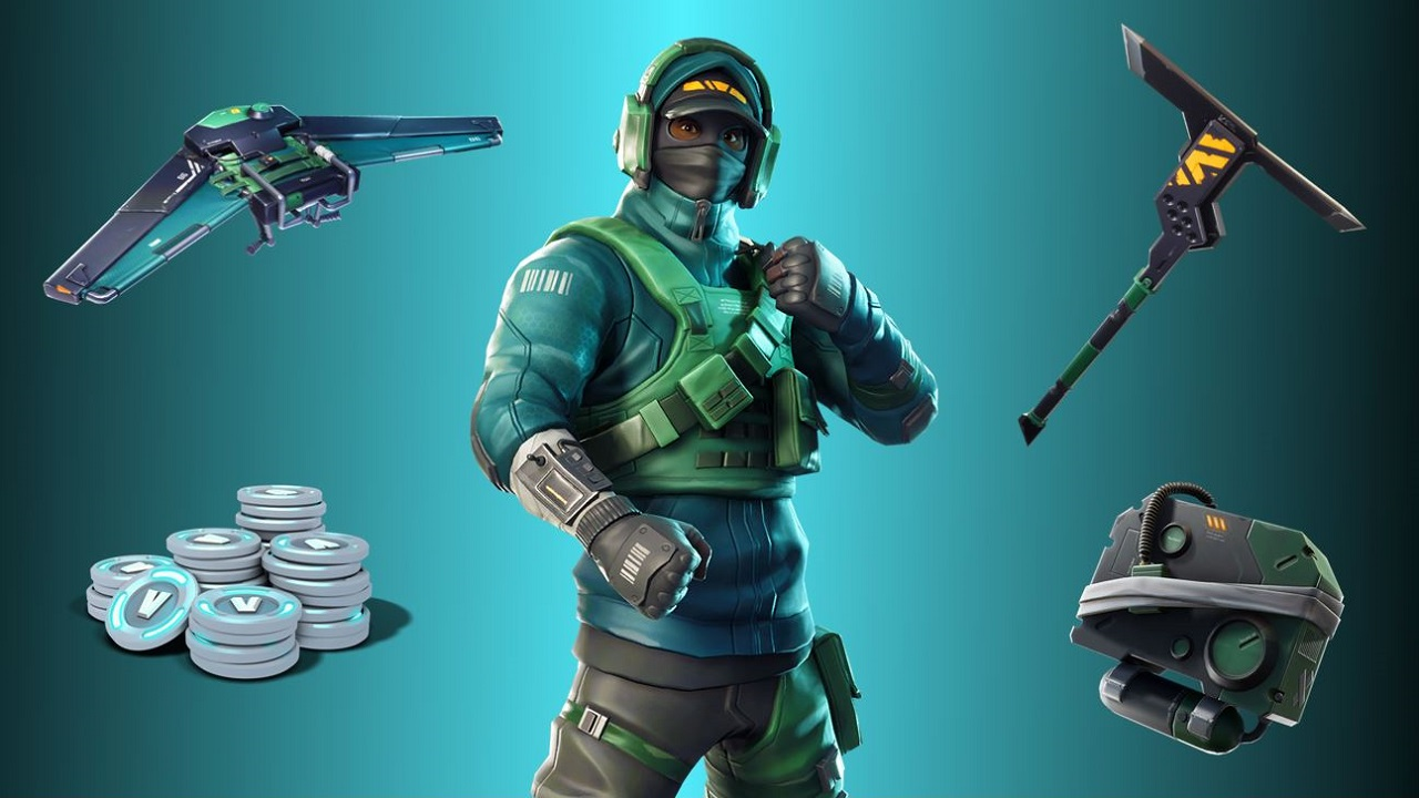 recently we sold items from the counterattack set in the battle royale item shop after including in our sweepstakes messaging for the nvidia bundle that - what was the first skin in fortnite shop