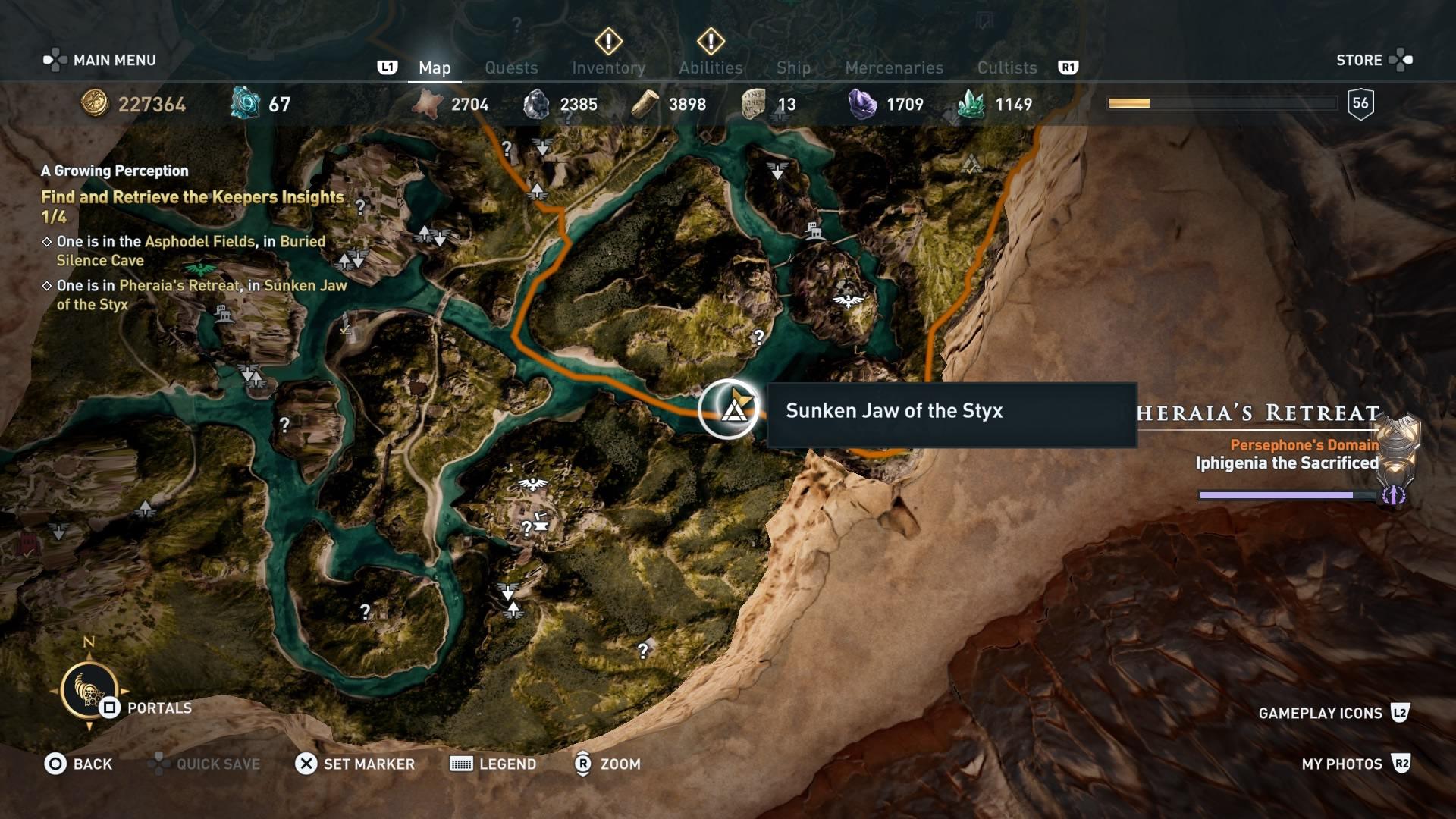 Assassins Creed Odyssey: guía de información del guardián: dónde encontrar todas las percepciones de Hermes 19