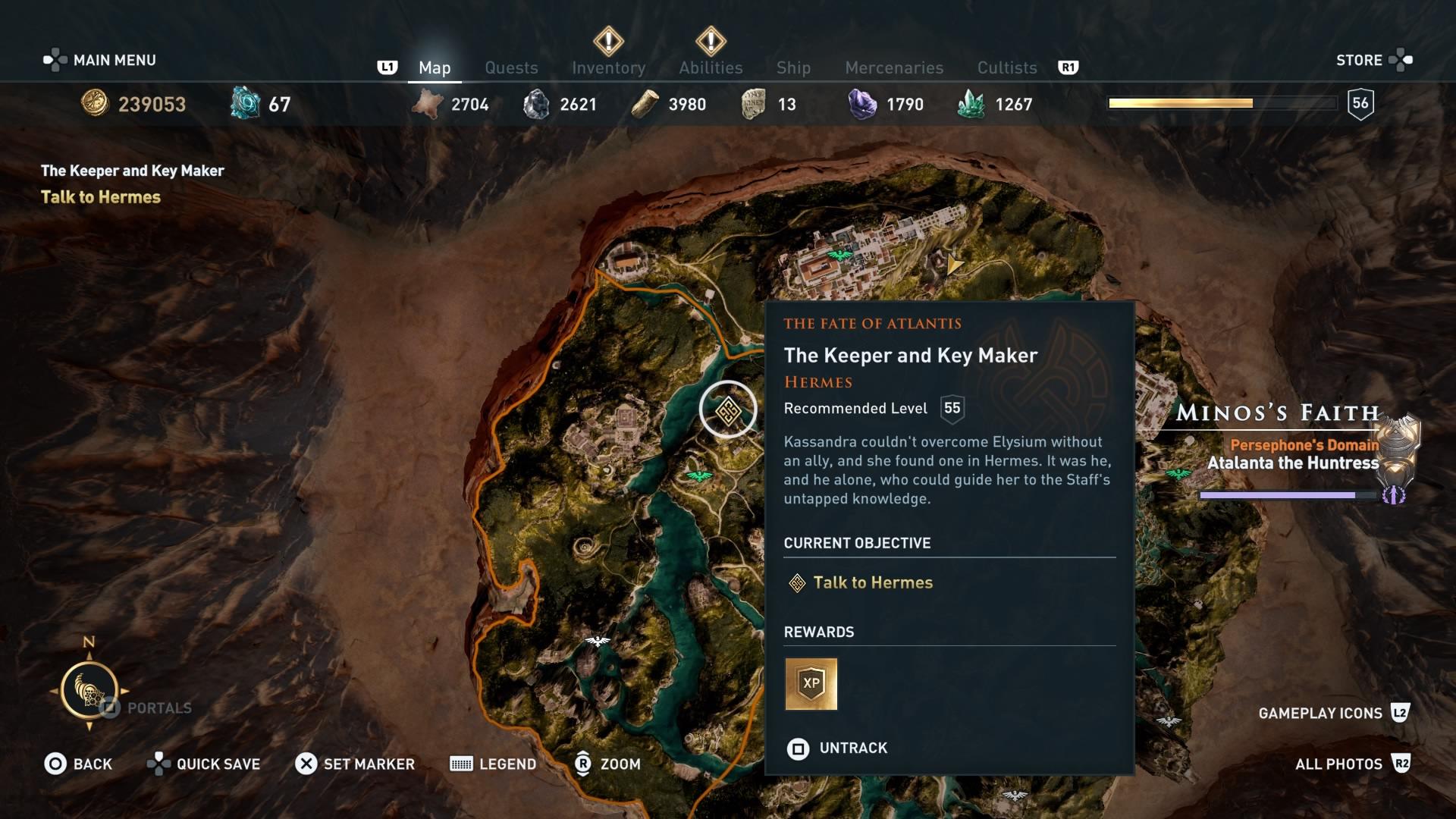 Assassins Creed Odyssey: guía de información del guardián: dónde encontrar todas las percepciones de Hermes 25