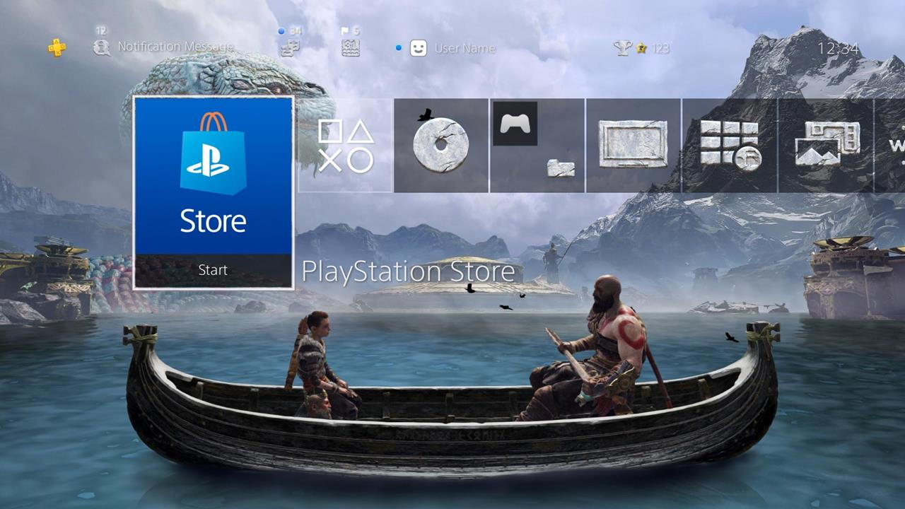 Sony is celebrating God of War's first anniversary with a free PS4 theme