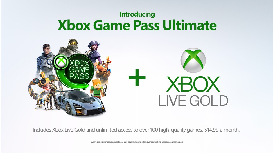 Xbox Game Pass Ultimate is $15 per month, includes both Xbox Live Gold and Game Pass
