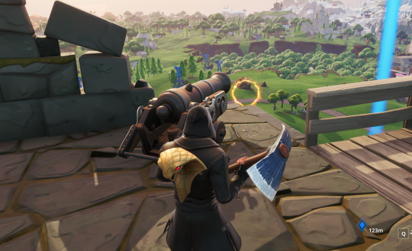 Where Are All The Flaming Hoops In Fortnite Season 8 Fortnite Launch By Flaming Hoops Utilizing A Pirate Cannon