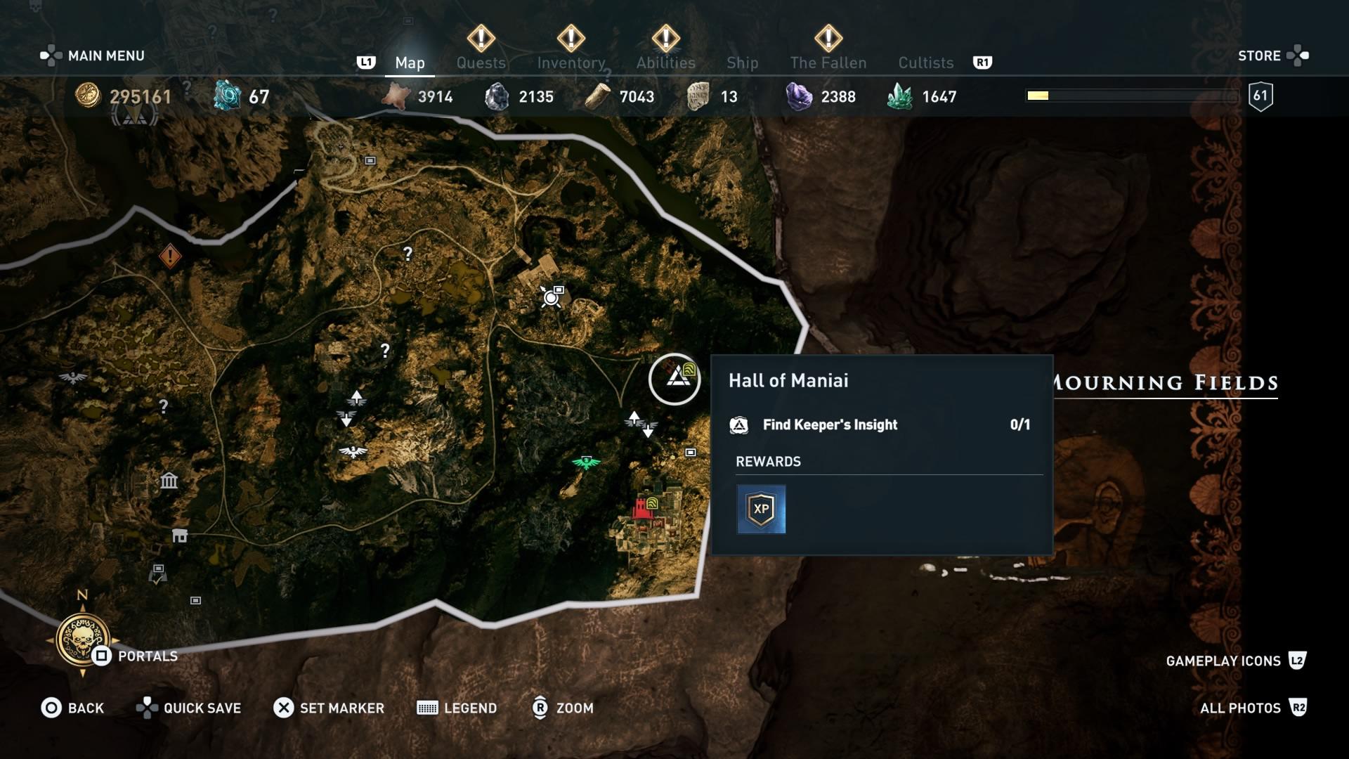 Assassins Creed Odyssey: guía de información del guardián: dónde encontrar todas las percepciones de Hermes 5