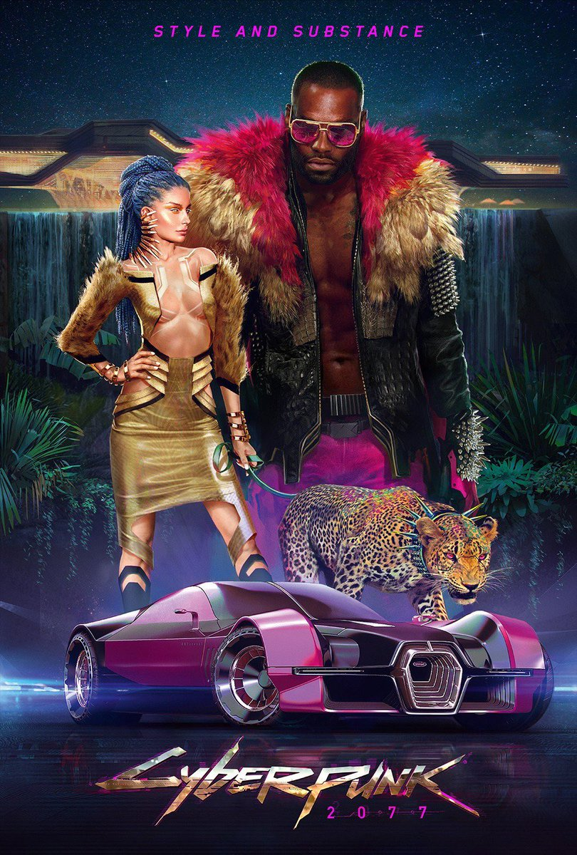 These sleek Cyberpunk 2077 posters have style and substance - VG247