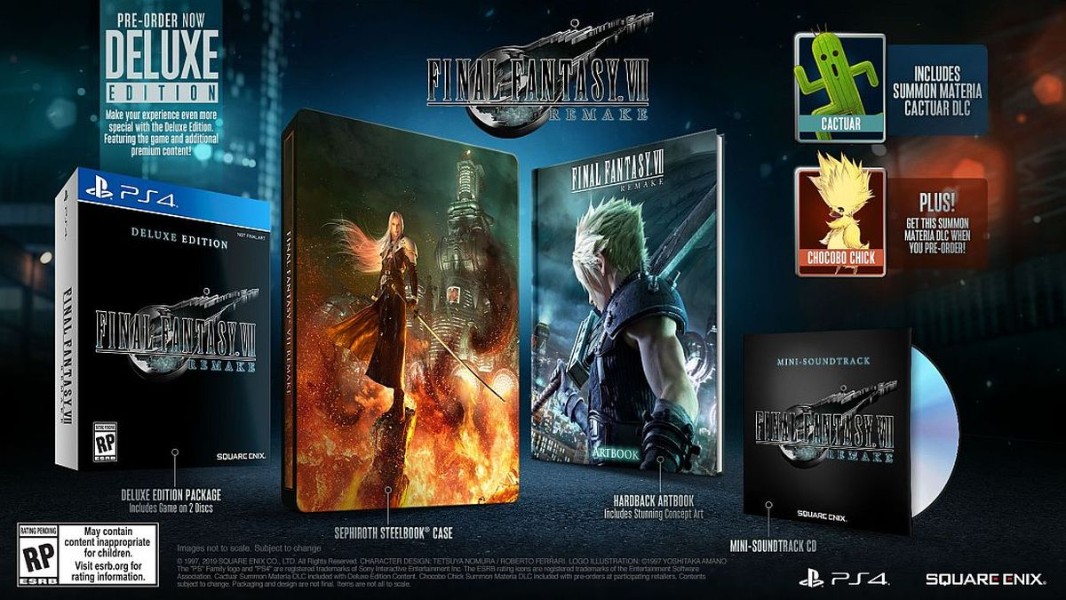 Final Fantasy 7 Remake limited edition 1st Class and Deluxe