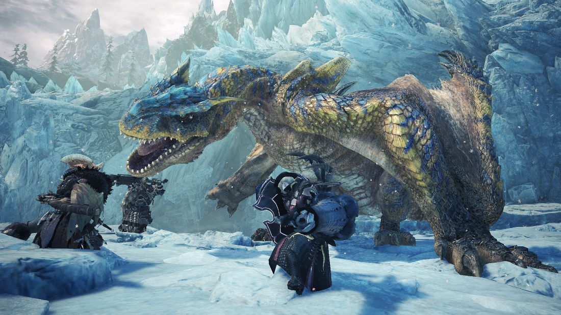 Monster Hunter World Iceborne: watch a four-person squad