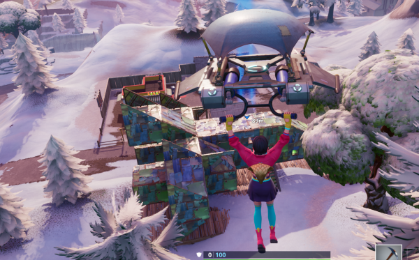 , Fortnite: Fortbyte 19 – Accessible with the Vega outfit inside a spaceship building, AllYourGames.com, AllYourGames.com