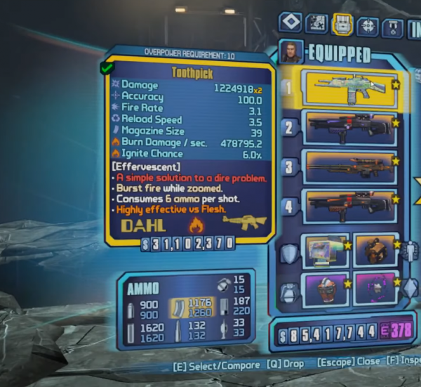 , Borderlands 2: how to beat Haderax the Invincible and get the Toothpick Assault Rifle, AllYourGames.com, AllYourGames.com