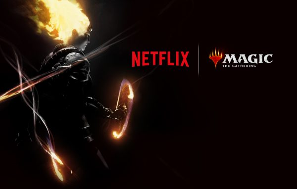 A promotional image of Netflix's Magic: The Gathering show, featuring a Planeswalker.