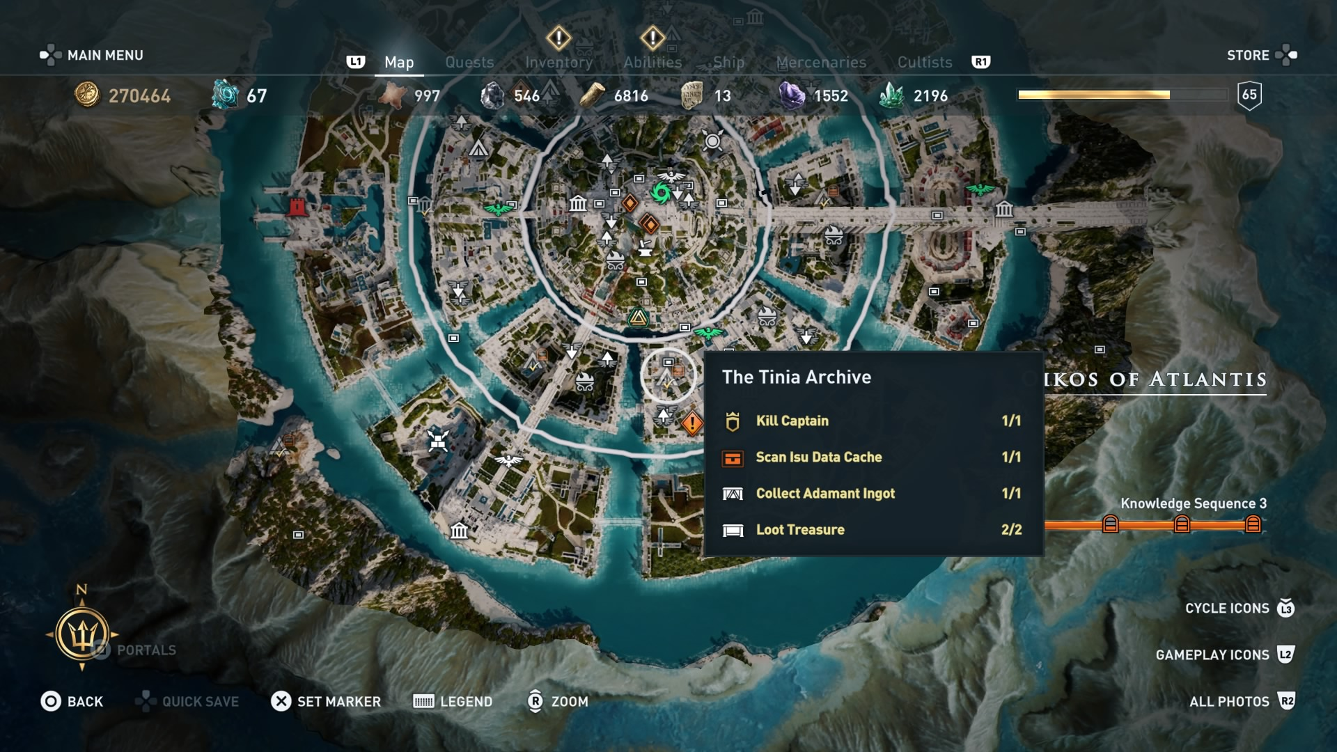 Assassin's Creed Odyssey Isu Knowledge information – Cache