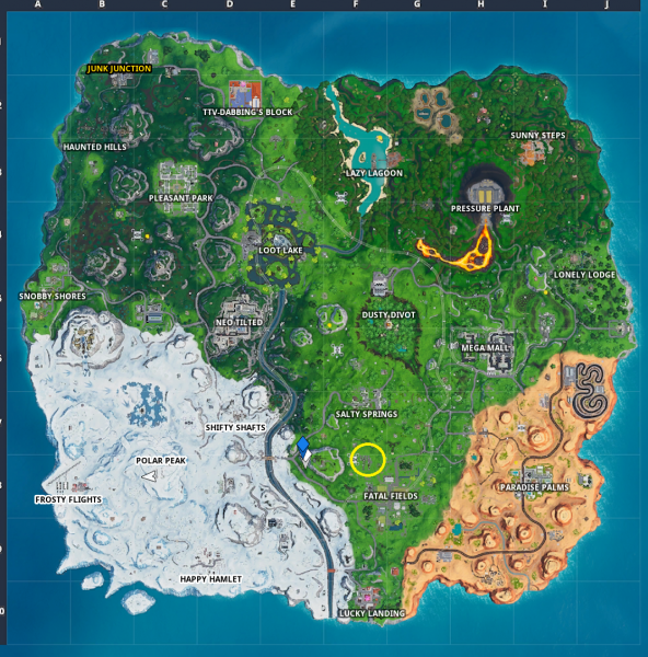 , Fortnite: Fortbyte 34 – Found between a fork and knife, AllYourGames.com, AllYourGames.com
