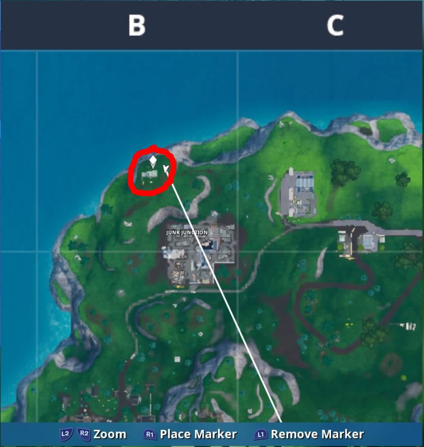 Fortnite Fortbyte 21 Found inside a metal llama building Location