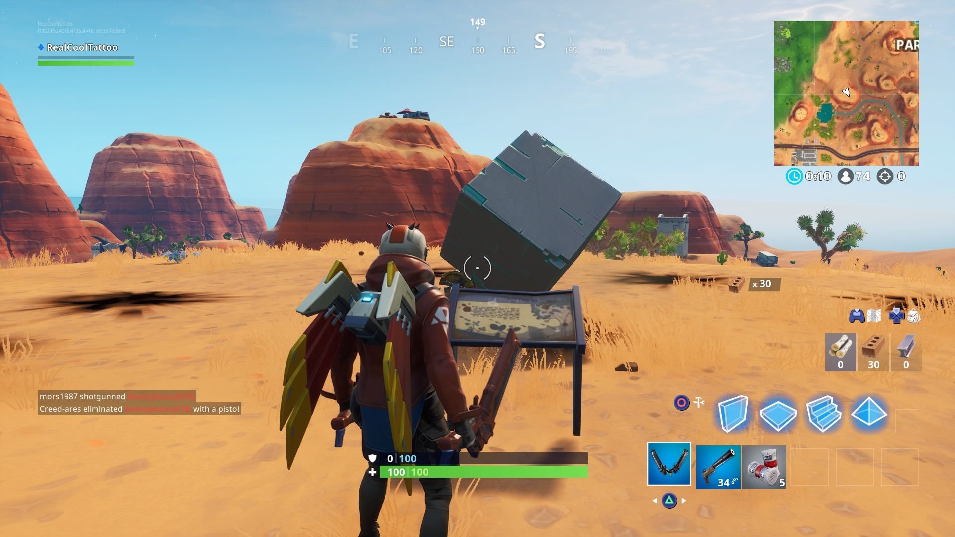 Fortnite Visit A Memorial To A Cube In The Desert Or By A