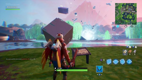 Fortnite Visit A Memorial To A Cube In The Desert Or By A Lake