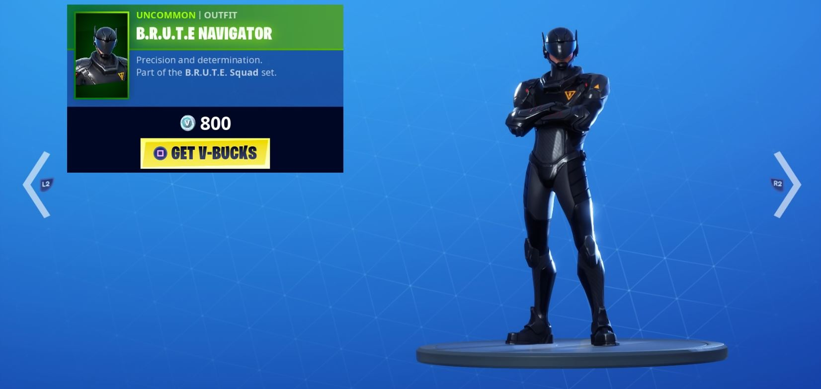 , New BRUTE Squad mech pilot Fortnite skins drop in item shop