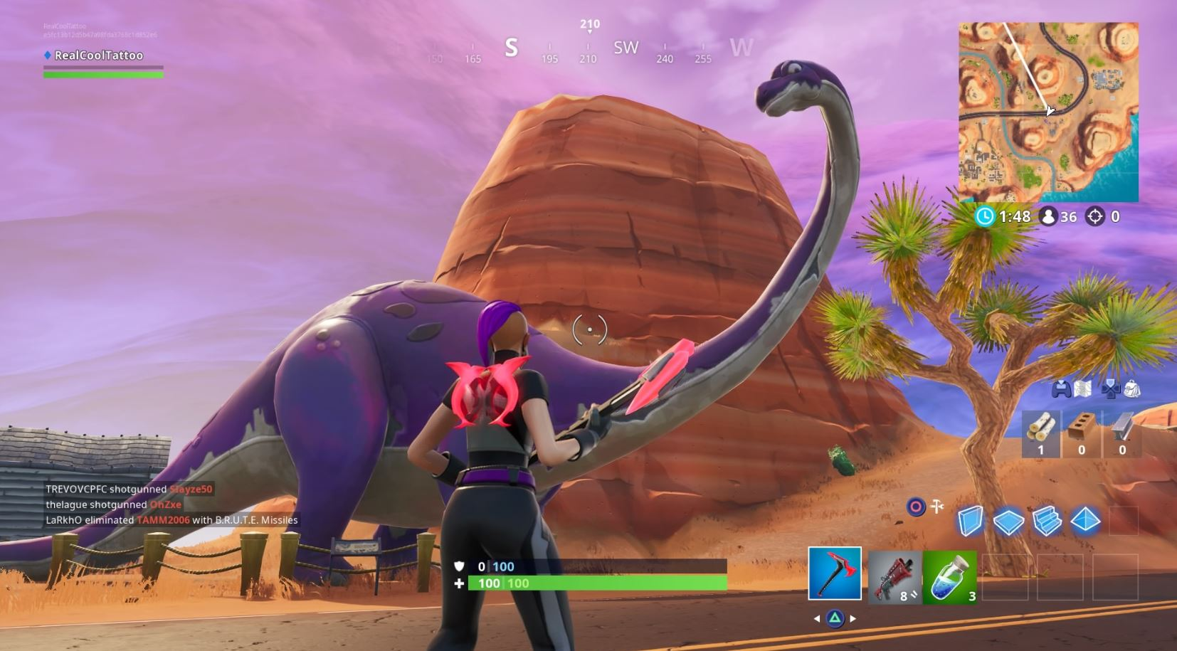 , Fortnite: Visit a Drift painted Durrr Burger Head, dinosaur and stone head statue locations, AllYourGames.com, AllYourGames.com