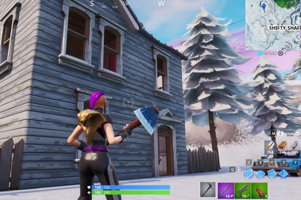 Fortnite Search Between Basement Film Camera, Snowy Stone Head & Flashy Gold Big Rig
