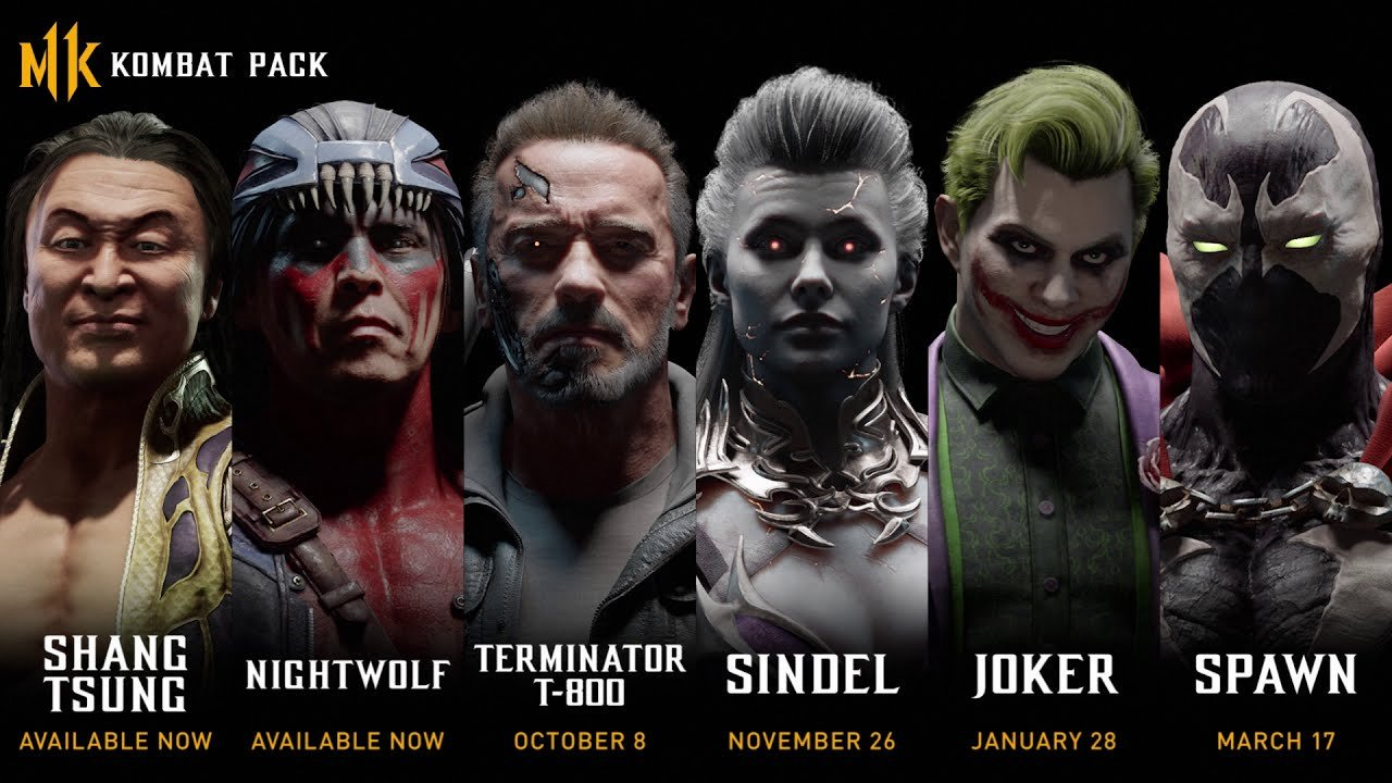 Mortal Kombat 11's Kombat Pack roster has been leaked