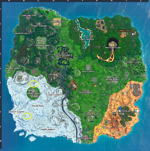 , Fortnite: Land on different bullseyes