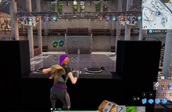 , Fortnite: dance behind the DJ booth at a club with the Y0ND3R outfit, AllYourGames.com, AllYourGames.com