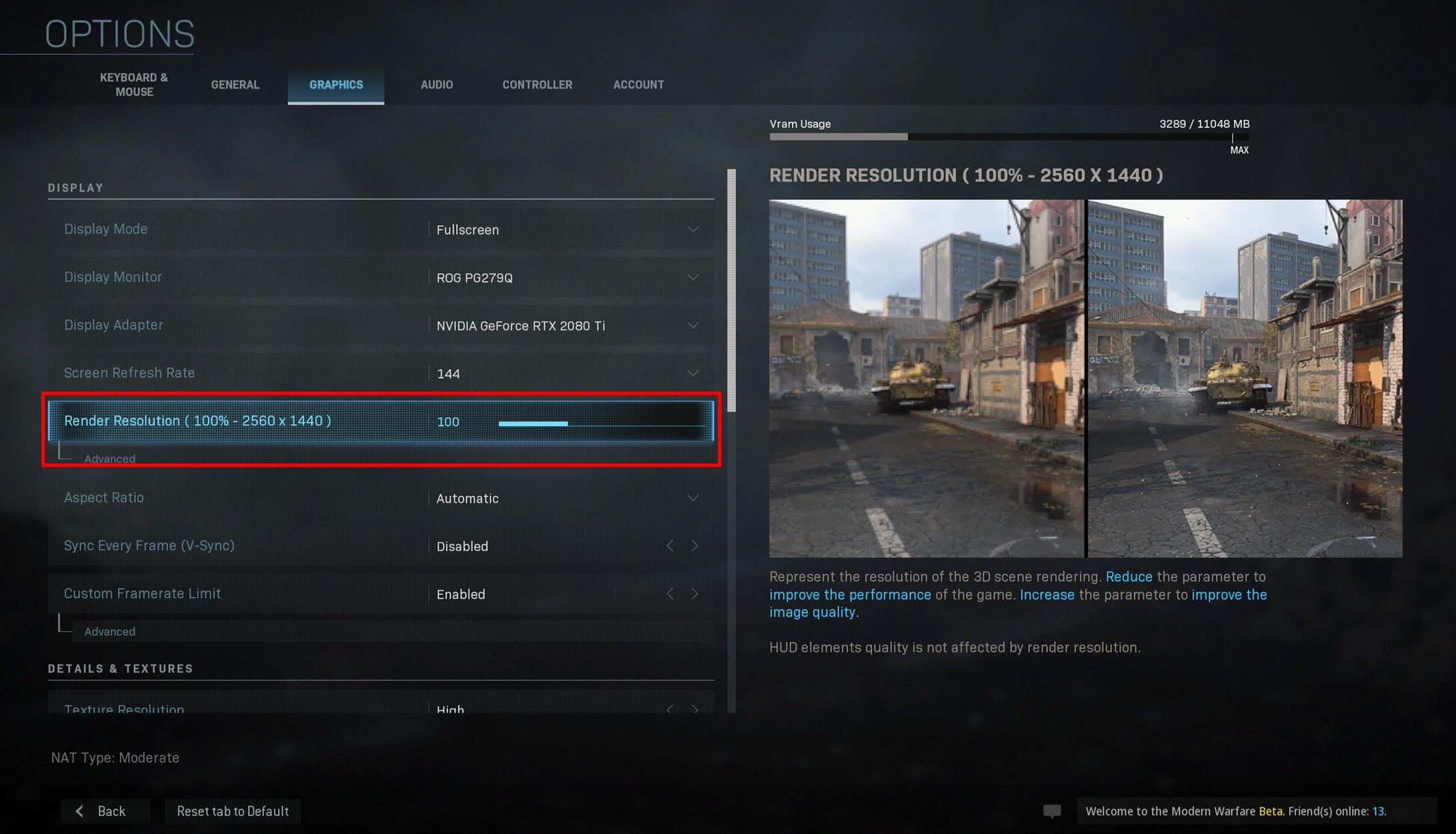 Modern Warfare Pc Beta Psa Make Sure Your Render Resolution Is Set To 100 You Monsters Vg247
