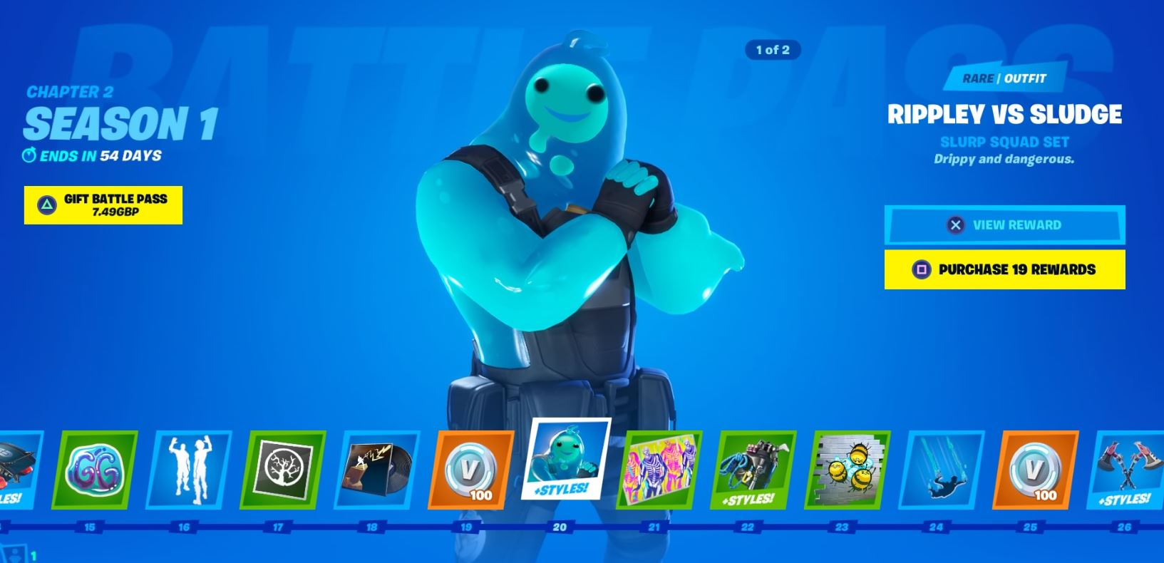 Fortnite New Battle Pass Skins Rippley Vs Sludge 8 Ball