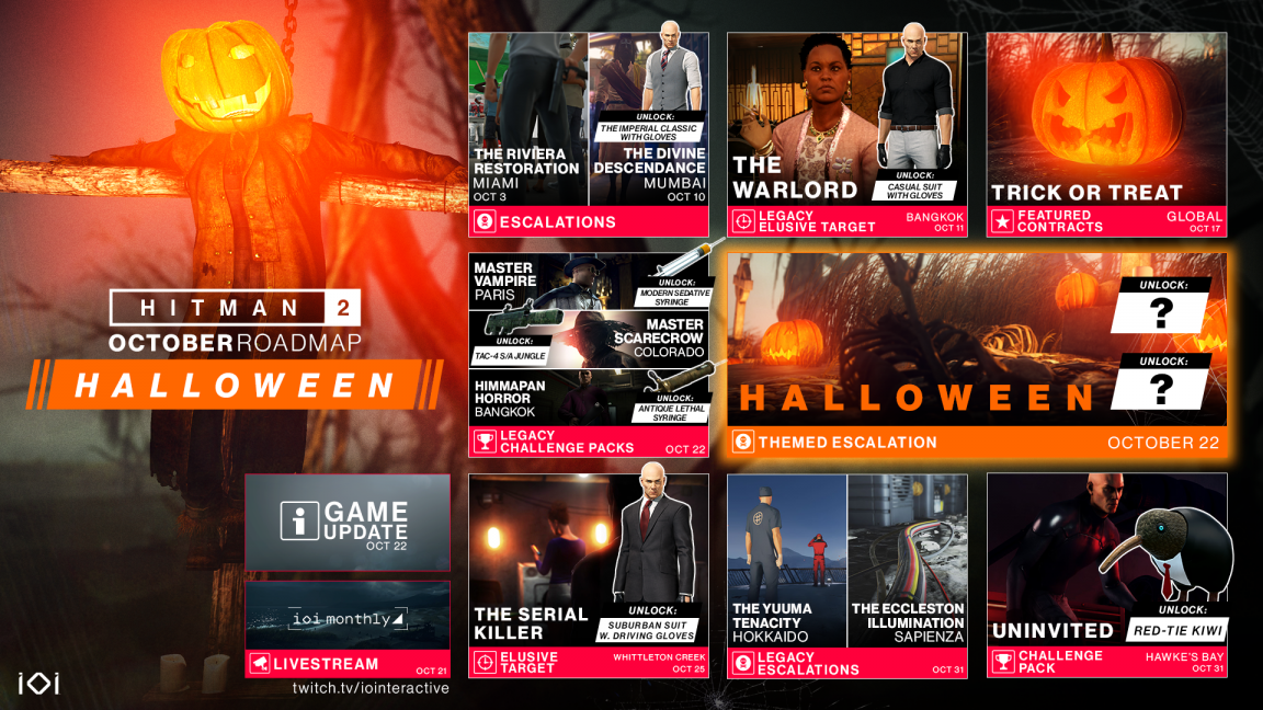 Hitman 2 October Replace Will Get Spooky With A Halloween Themed