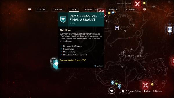 Destiny 2: Shadowkeep - Cómo comenzar el Asalto final ofensivo Vex 3