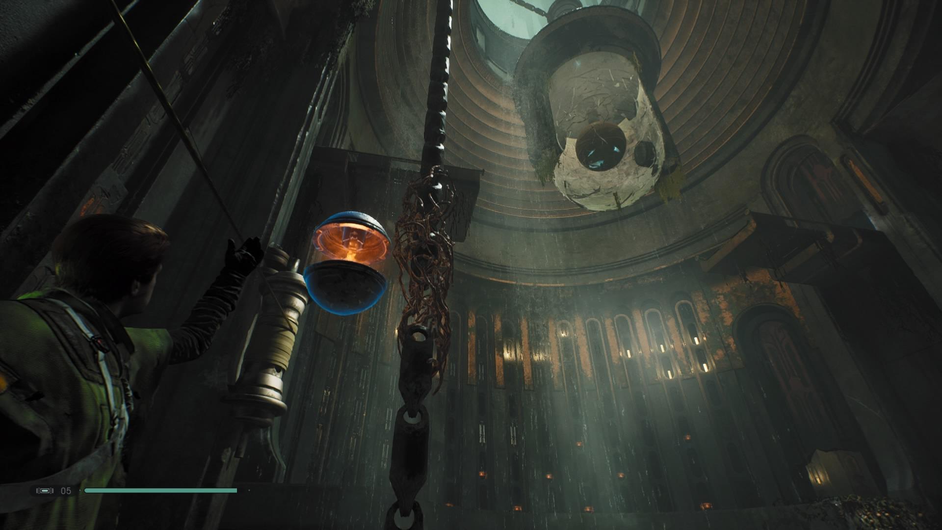 Star Wars Jedi: Fallen Order Tomb of Miktrull Tutorial Vela Puzzle soluciones 30