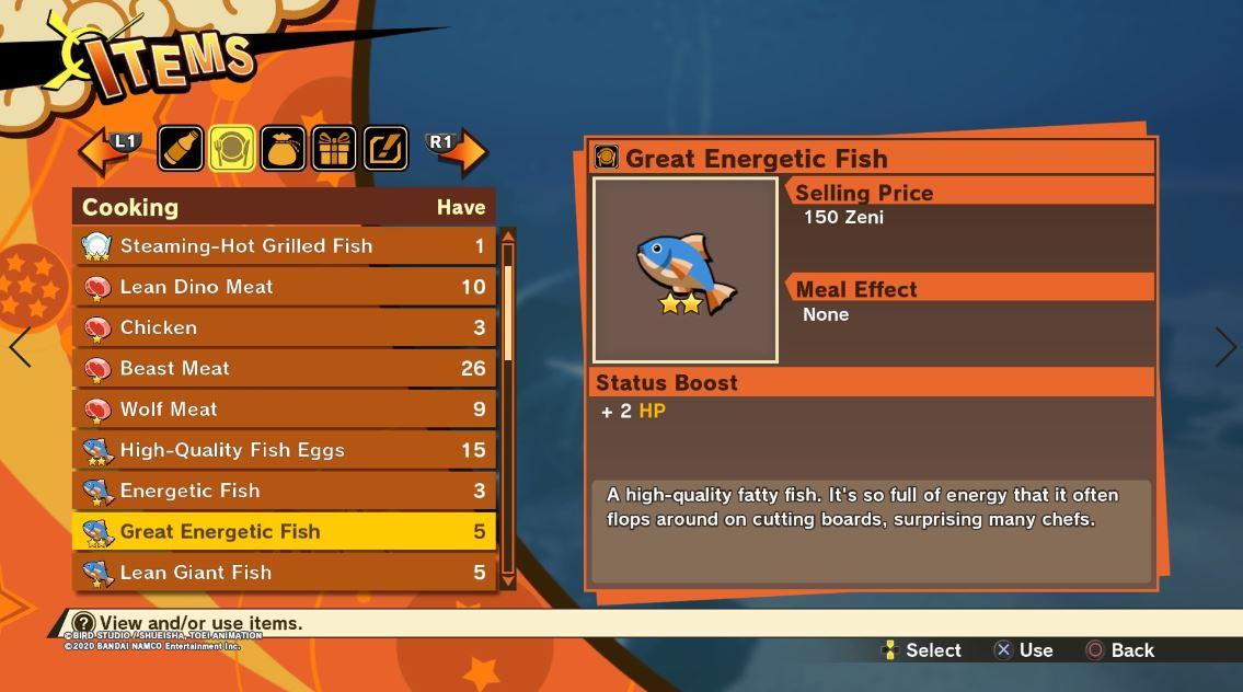 Guía del subsuelo de Dragon Ball Z Kakarot: dónde encontrar un gran pez energético, tomate real, maristone y zanahorias 6