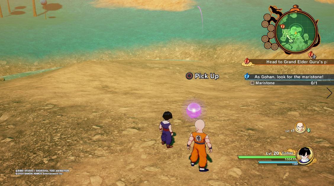 Guía del subsuelo de Dragon Ball Z Kakarot: dónde encontrar un gran pez energético, tomate real, maristone y zanahorias 8
