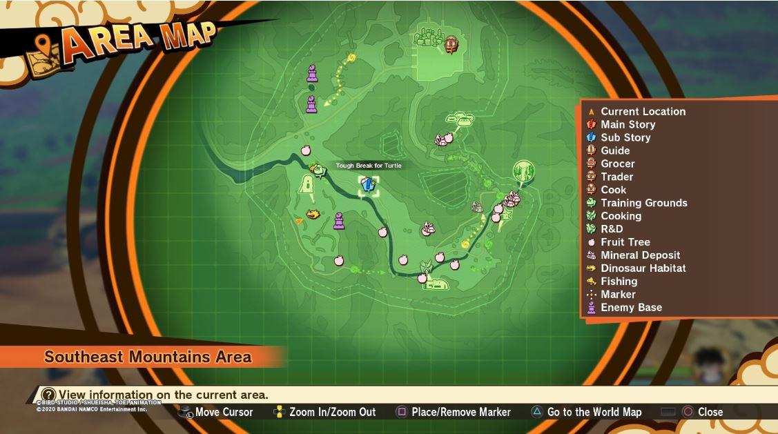 Guía del subsuelo de Dragon Ball Z Kakarot: dónde encontrar un gran pez energético, tomate real, maristone y zanahorias 4
