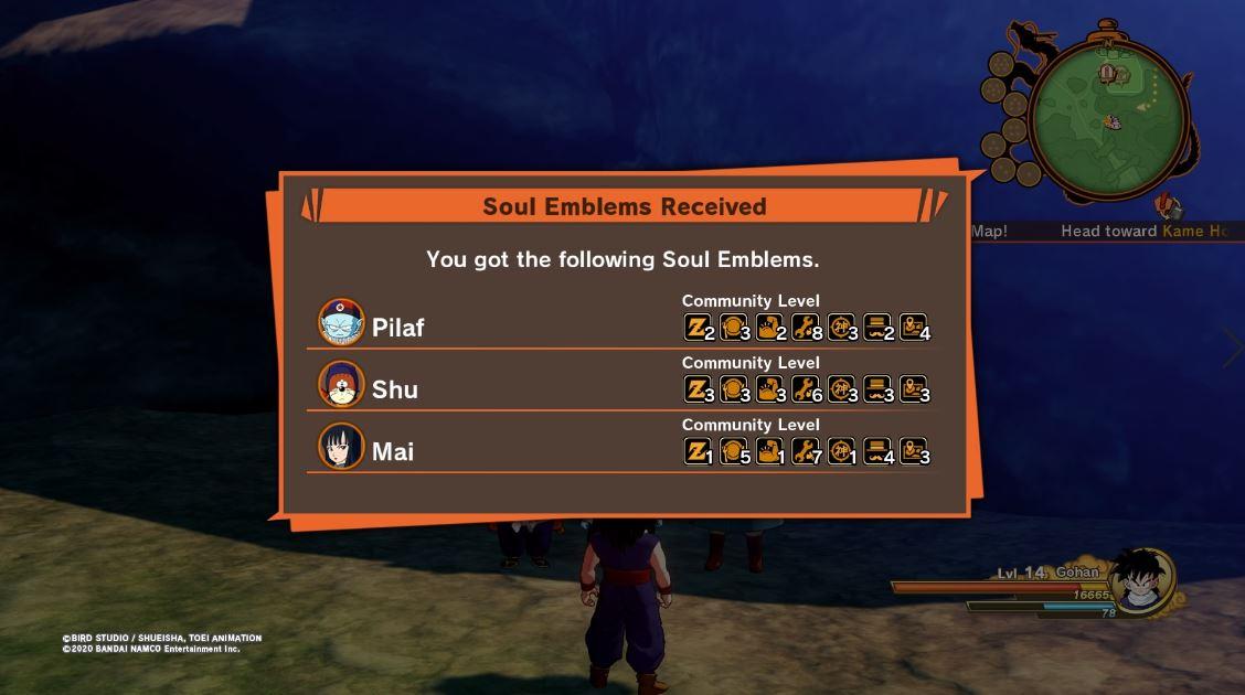 Guía de emblemas espirituales de Dragon Ball Z Kakarot 2