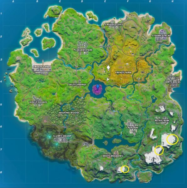 Fortnite: Capítulo 2 - Dónde encontrar los campamentos base de montaña 3