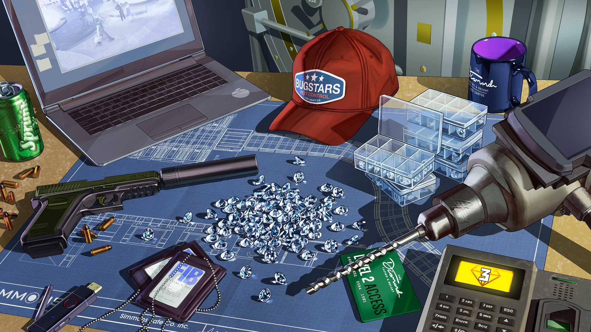 GTA Online: Diamonds have been removed as a reward for the Diamond Casino Heist - VG247